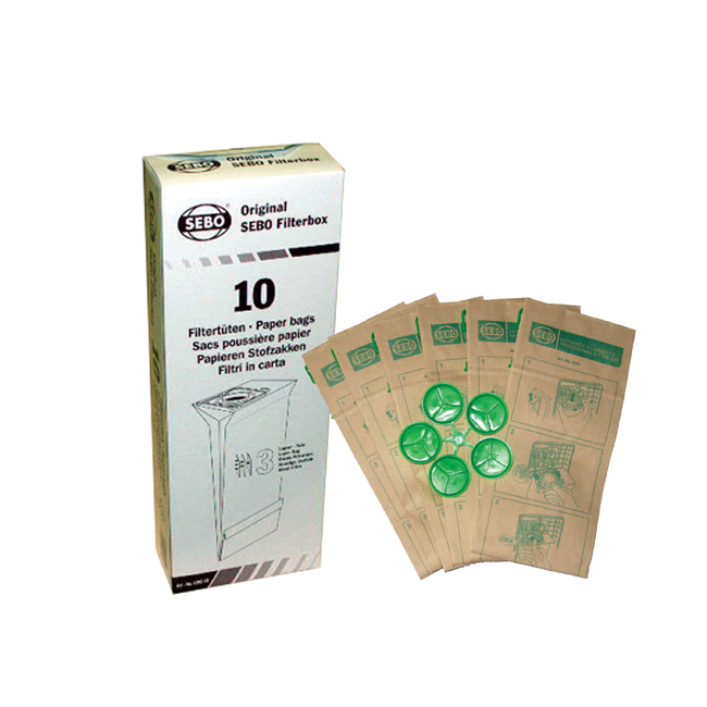 SEBO Filter Bag Box: X, G, C, & 370 Series