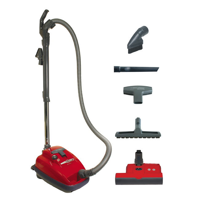 SEBO AIRBELT K3 w/ ET-1 powerhead & Parquet Brush(RED)
