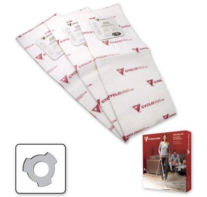 3 short electrostatic filter bags