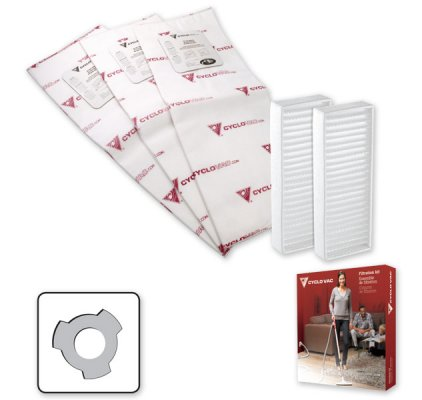 3 heavy duty electrostatic filter bags and 2 carbon dust filters