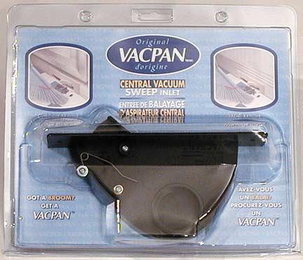 Central Vacuum Vac Pan, Toe Kick, Black