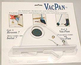 Central Vacuum Vac Pan, Toe Kick, White