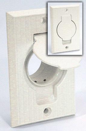 Central Vacuum Inlet, Oval Door, PVC