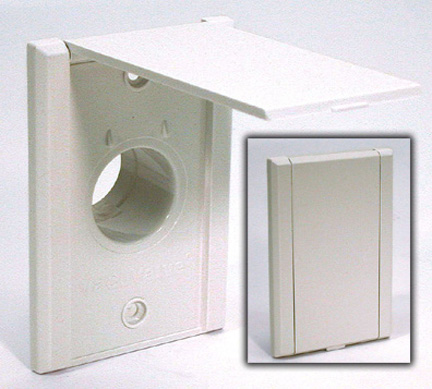 Central Vacuum Inlet, Canplas VacuValve, PVC